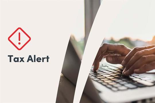 Generic tax alert image