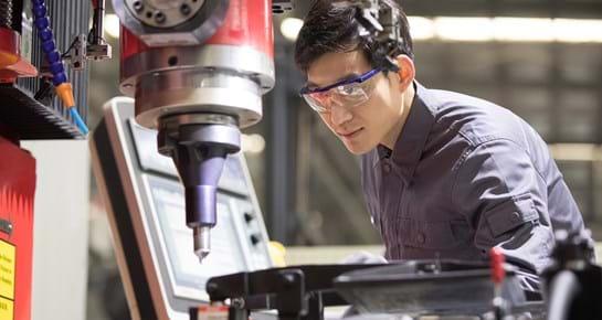 Man using a power drill